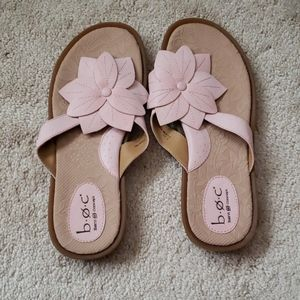 BORN  PINK FLOWER SANDALS new never worn. No flaws